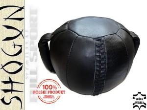 d0b3a274446930 12kg - Piłka lekarska skóra Shogun -z rączkami