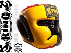 Kask bokserski TOP KING Extra Coverage Black-Yellow