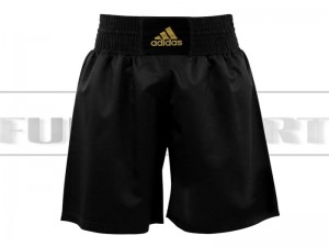 Spodenki bokserskie - Adidas Multiboxing Black-Gold