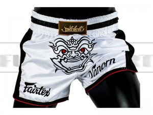 Spodenki Muay-Thai FAIRTEX - BS1712 New Styl White-Black
