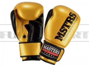 Rękawice bokserskie Masters RBT-METALIC - 10oz Yellow