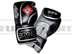 Montana rękawice bokserskie X-Fight EVO - Black-Silver