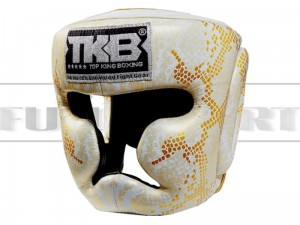 Kask bokserski Top King SUPER STAR SNAKE White-Gold