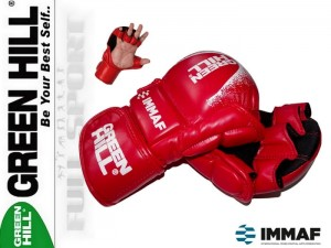 MMA Rękawice startowe Green Hill Red - approved IMMAF