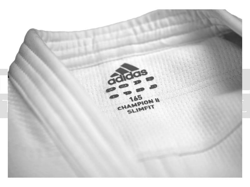IJF Judoga Adidas Champion II J730 Biała Slim Fit